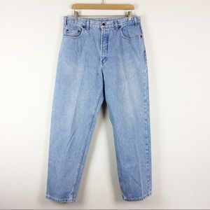 Vintage high waisted dad jeans light wash straight